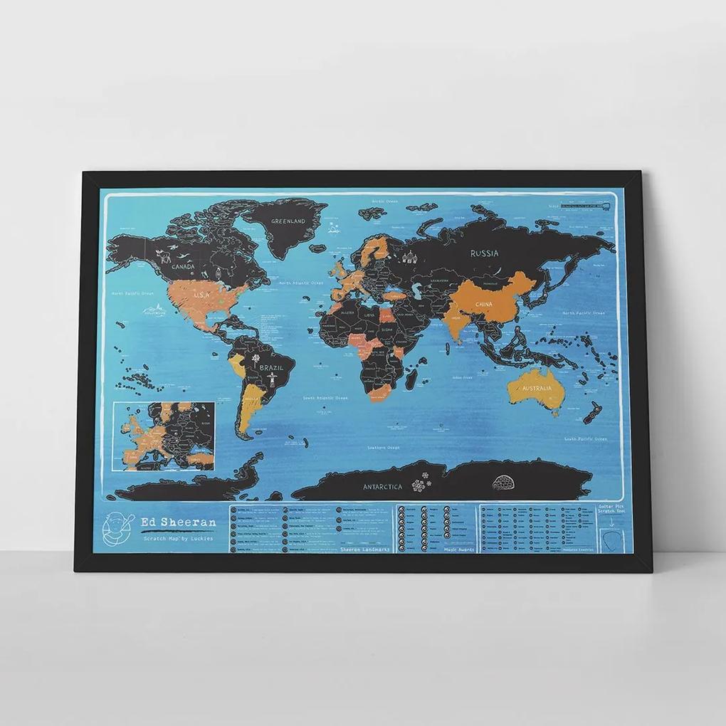 LUCKIES Ed Sheeran mapa sveta