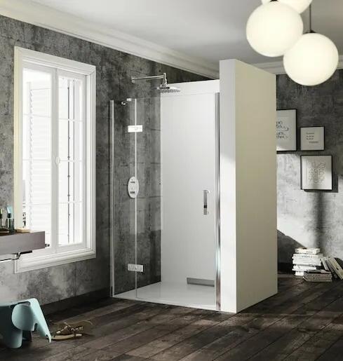 Sprchové dvere Huppe jednokrídlové 100 cm, sklo číre, chróm profil, ľavé ST0403.092.322