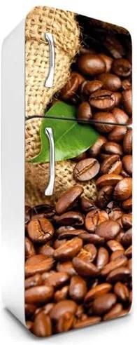 Samolepiace tapety na chladničku, rozmer 180 cm x 65 cm, kávové zrnká, DIMEX FR-180-003