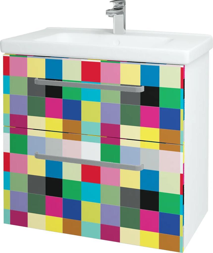 Dřevojas - Koupelnová skříň BIG INN SZZ2 80 - N01 Bílá lesk / Úchytka T01 / IND Individual (133214A)