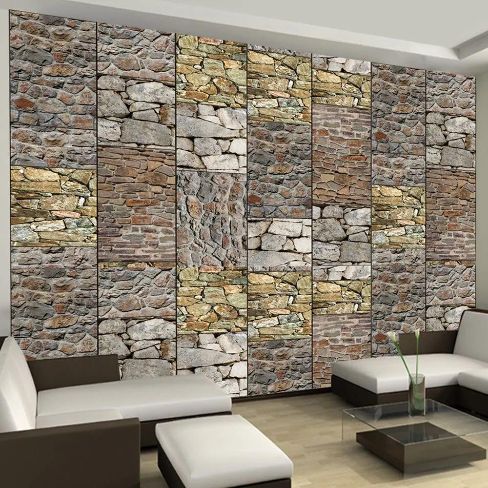 Fototapeta - Puzzle with stones 50x1000