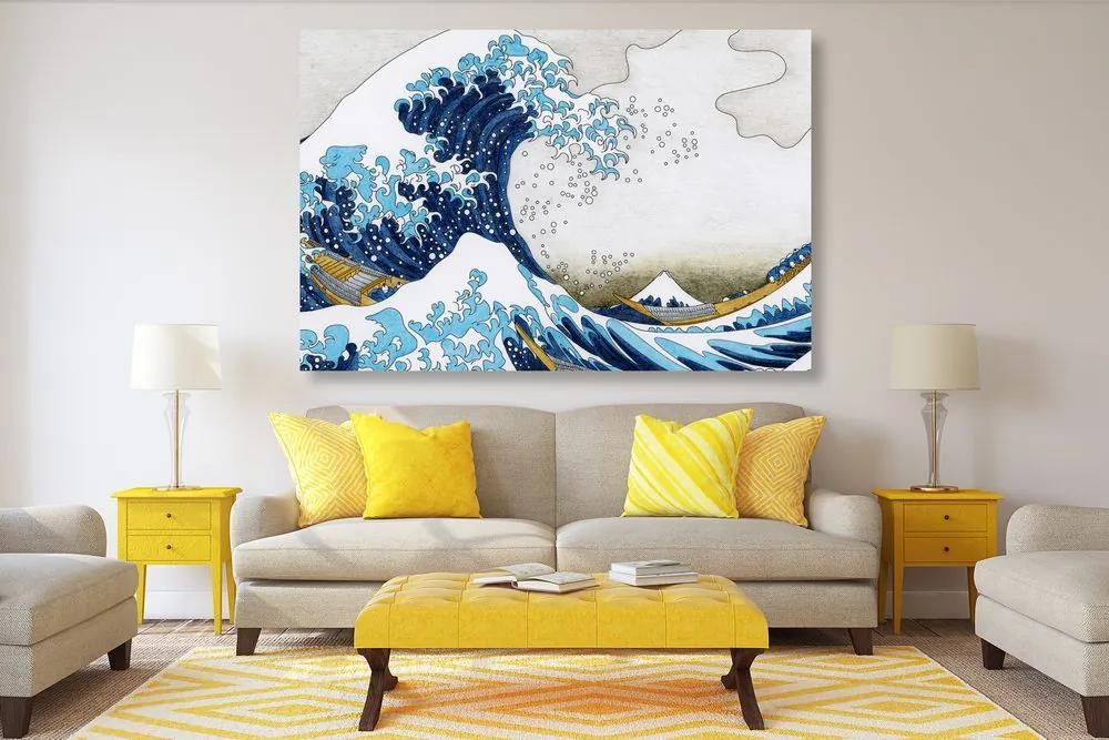 Obraz reprodukcia Veľká vlna z Kanagawa - Kacušika Hokusai