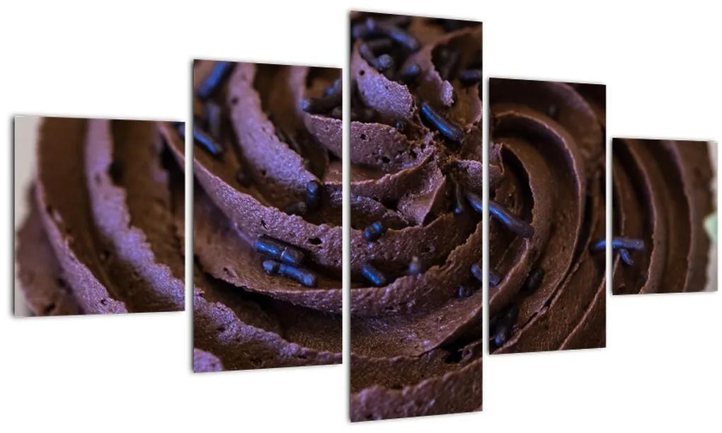 Obraz - Čokoládový Cupcake (125x70 cm), 40 ďalších rozmerov