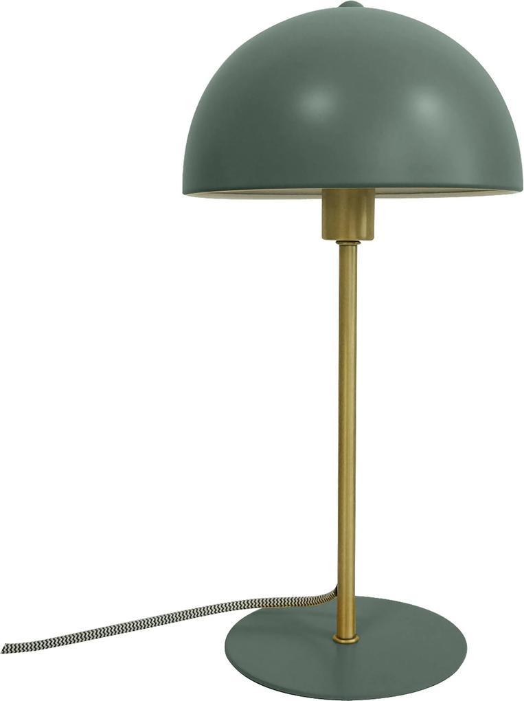 LEITMOTIV Stolná zelená lampa Bonnet