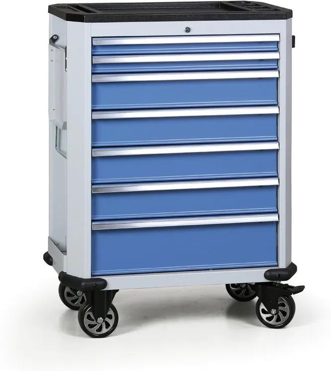 Dielenský servisný vozík EXPERT, 7 zásuviek