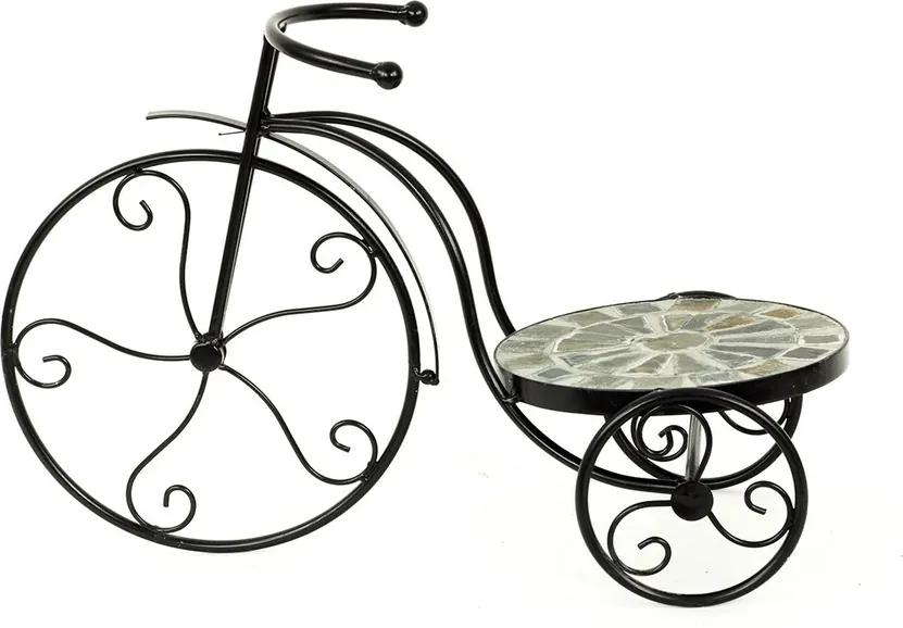Stojan na kvety Bicykel čierna, 50 cm