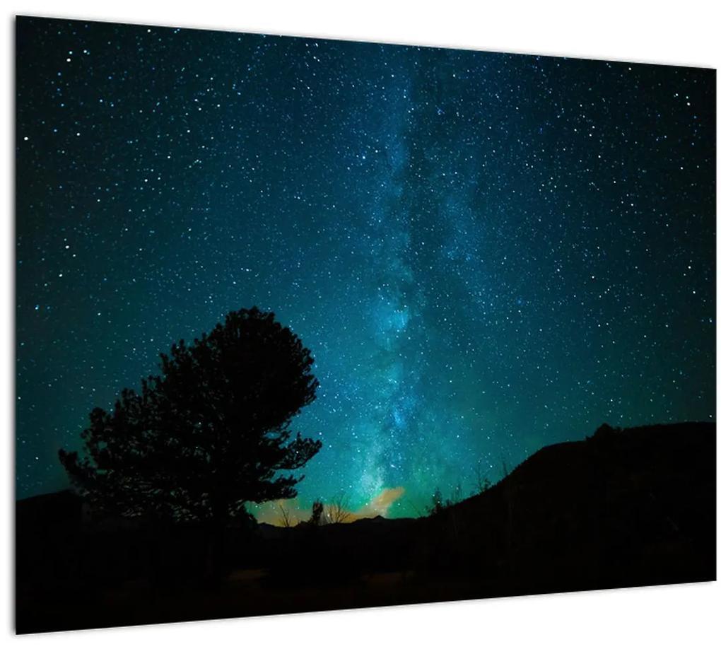 Obraz nočnej oblohy s hviezdami (70x50 cm), 40 ďalších rozmerov