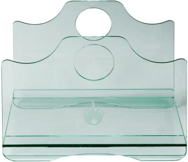 Kôš na drevo z tvrdeného skla Lienbacher