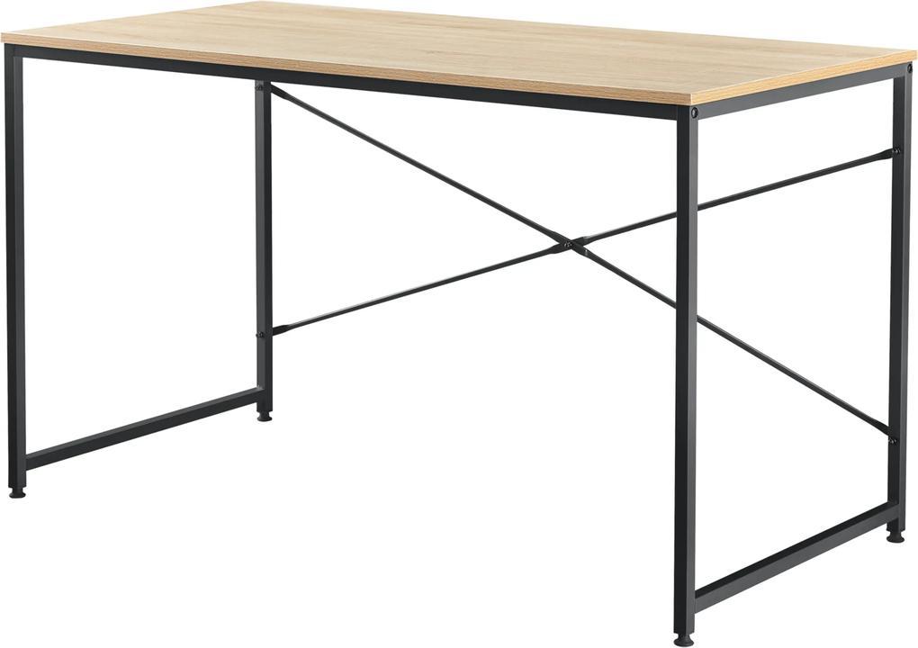 """[en.casa] Písací stôl """"Antwerpen"""" AASO-9211 - dub - 120 x 60 x 72 cm"""
