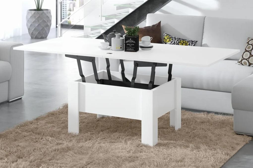 OSLO biely (čierny mechanizmus), rozkladací, zdvíhací, konferenčný stolík