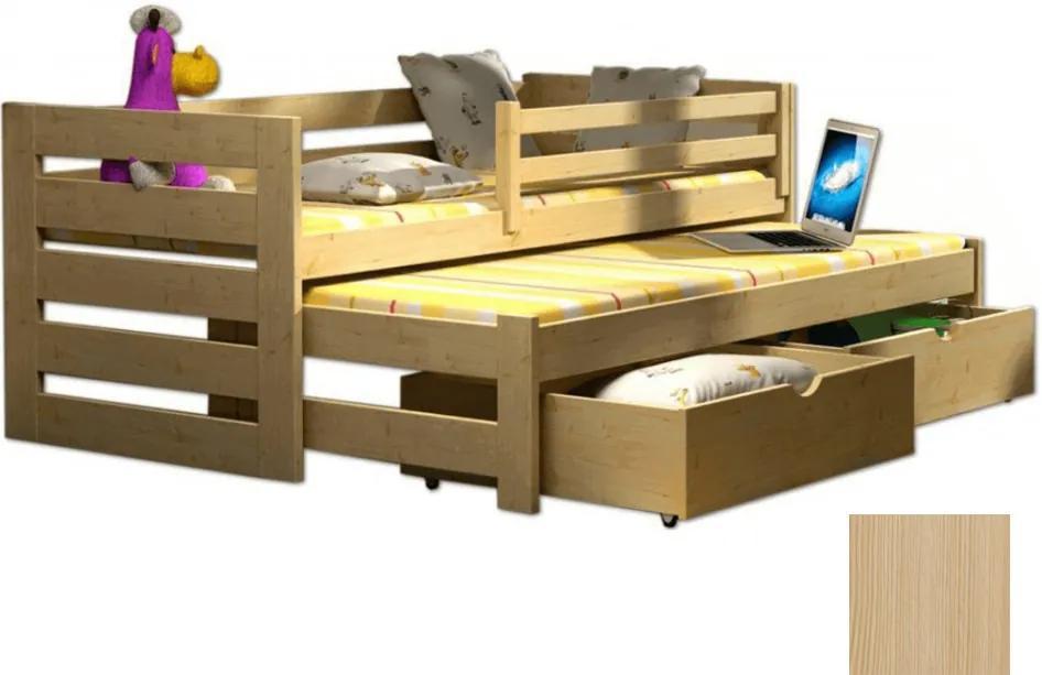 FA Detská posteľ Veronika 7 (180x80 cm) s prístelkou - viac farieb Farba: Prírodná