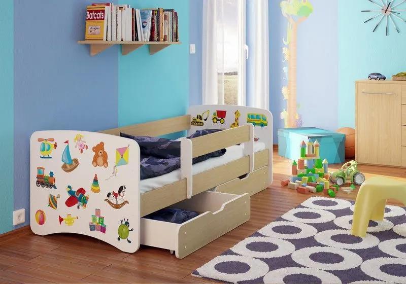 MAXMAX Detská posteľ MIX funny 160x90cm - so zásuvkou 160x90 pre všetkých ÁNO