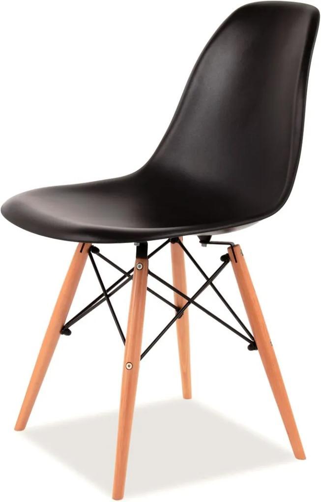 Najlacnejsinabytok Jedálenská stolička ENZO, čierna