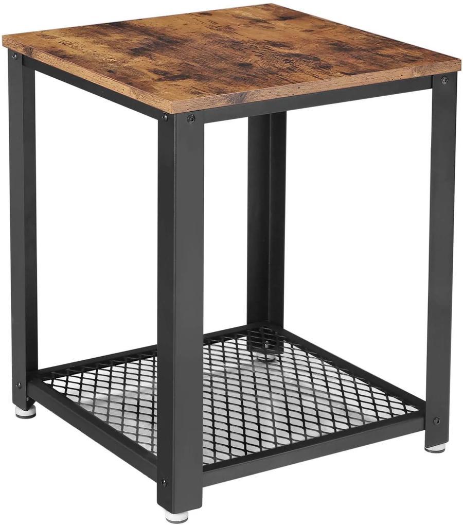 VASAGLE Odkladací stolík industriálny 40x40 cm