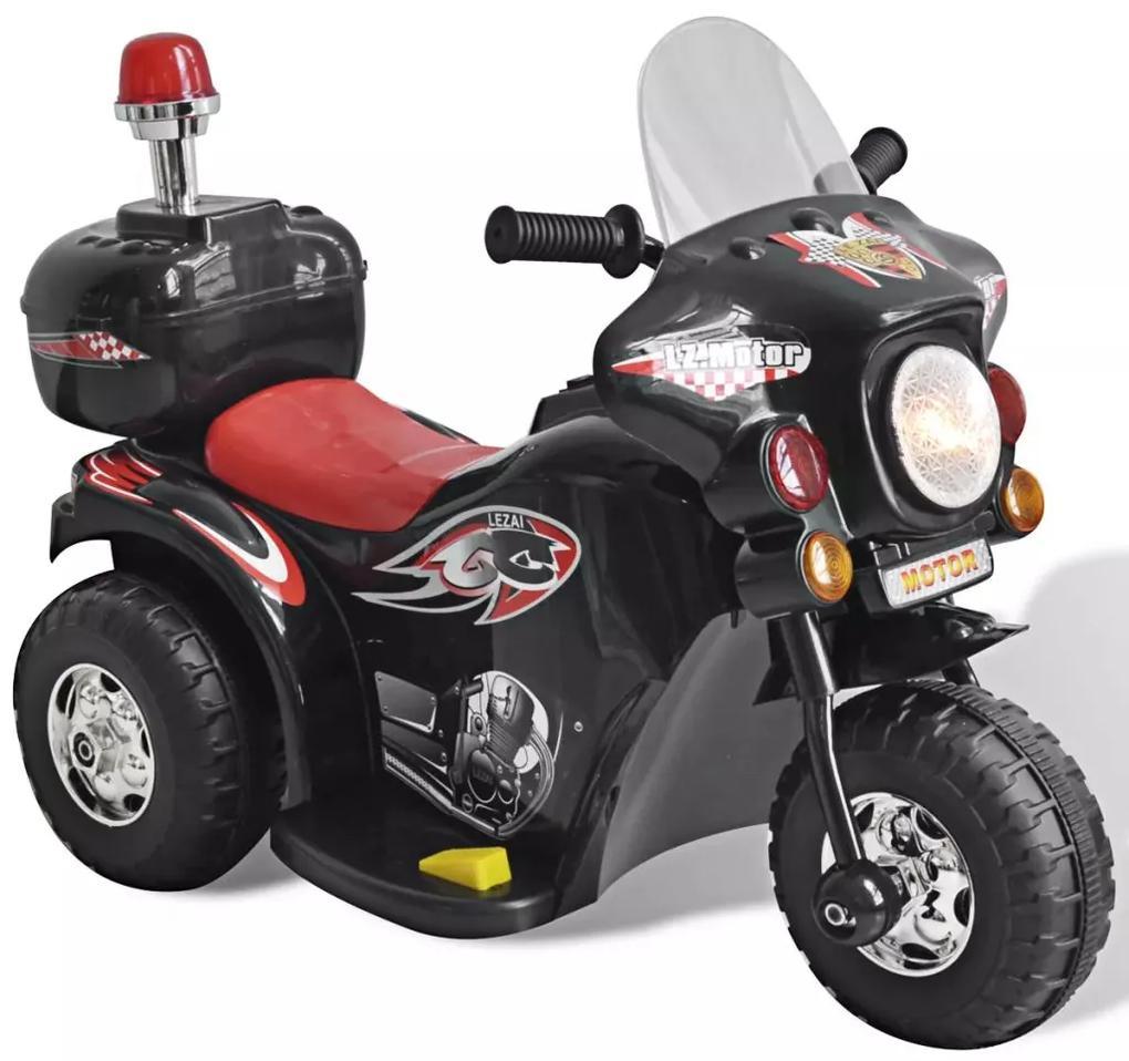 Detská motorka napájaná batériou (Čierna)