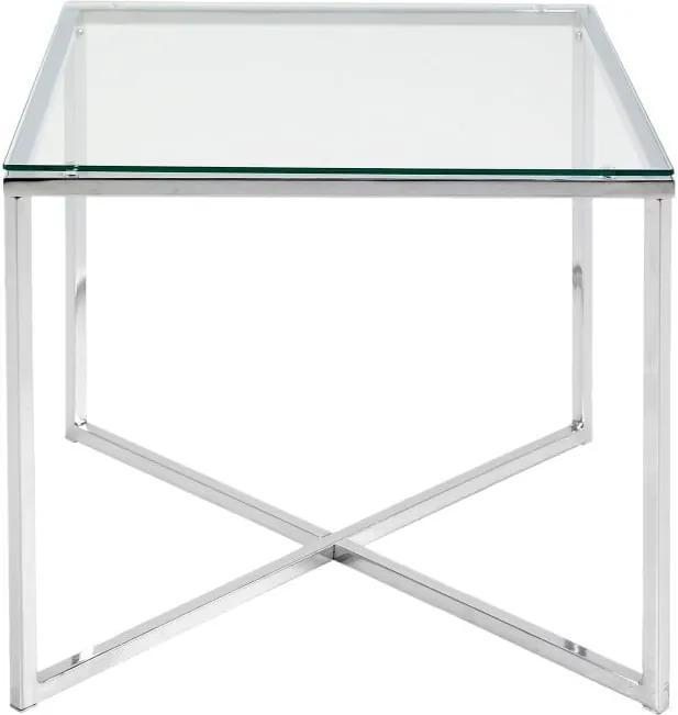 Odkladací stolík Actona Cross, 50 × 45 cm
