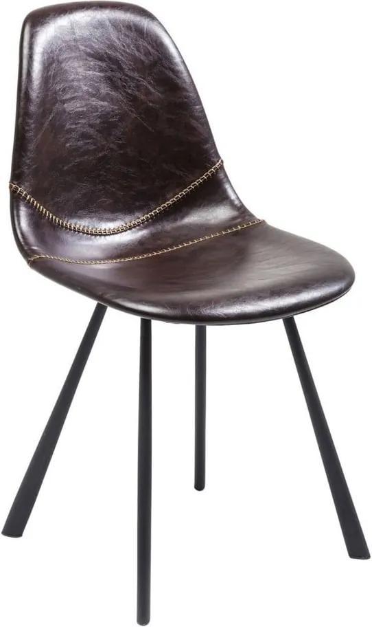 Sada 2 hnedých jedálenských stoličiek Kare Design Lounge