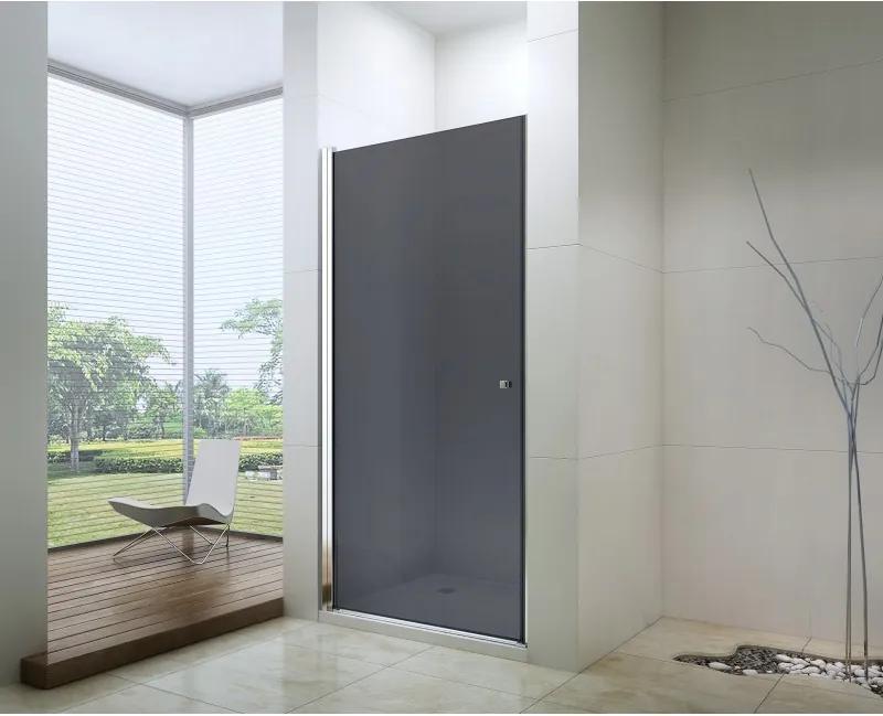 Mexen PRETORIA sprchové dvere do otvoru 80 cm, šedé, 852-080-000-01-40