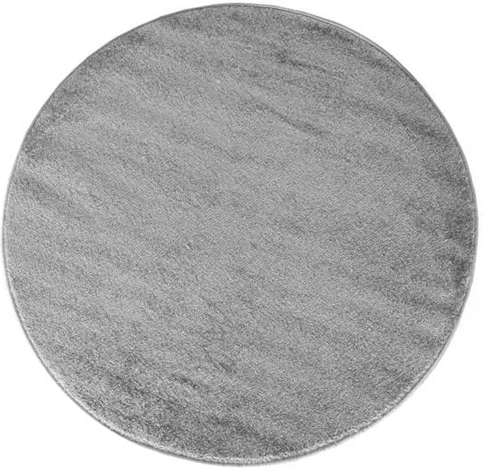 Kusový koberec Portofino sivý kruh 80x80, Velikosti 80x80cm
