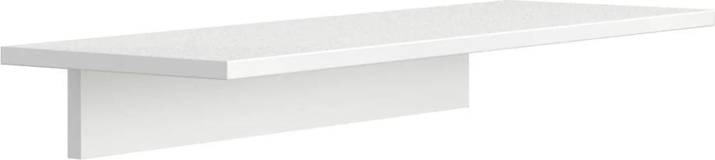 Polica kratšia pre nástenné panely Gray BOARDS 900 250 18 biela BOARDS