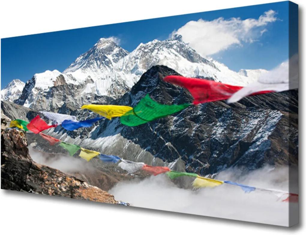 Obraz na plátně Sklenený Hory krajina