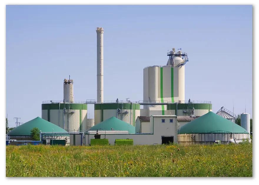 Foto obraz fotografie na skle Bioplynová stanica pl-osh-100x70-f-55450466