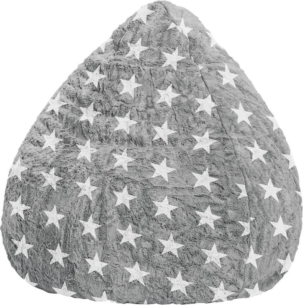 Sedací vak FLUFFY STARS XL
