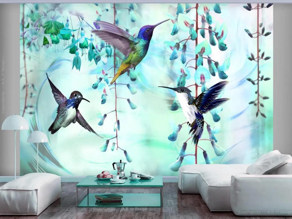 Murando DeLuxe Tapeta létající kolibříci ()