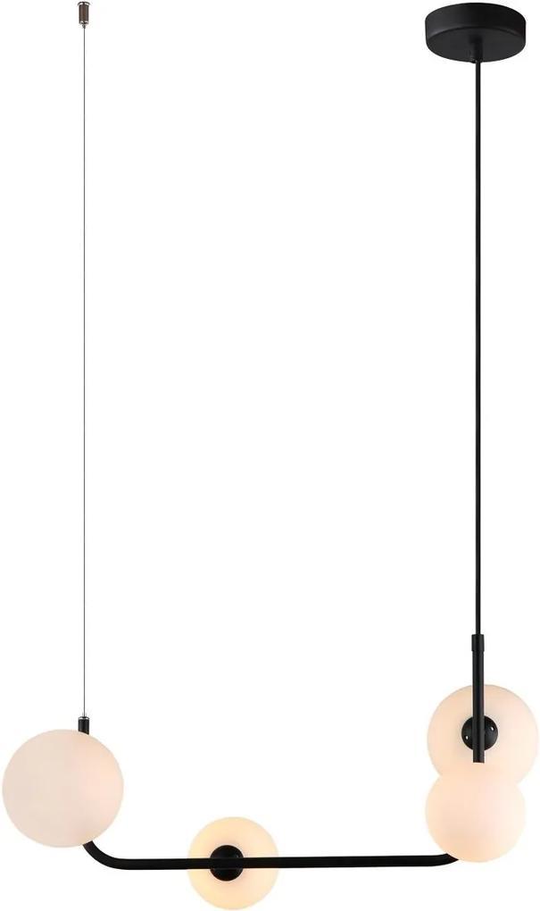 Italux MDM-4123/4 BK závesný luster Ferrand 4x25W | G9