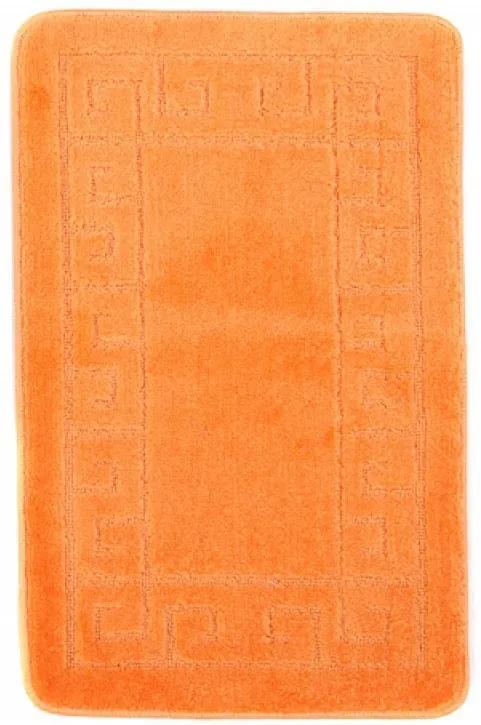 Kúpeľňová predložka 1030 oranžová, Velikosti 50x80cm