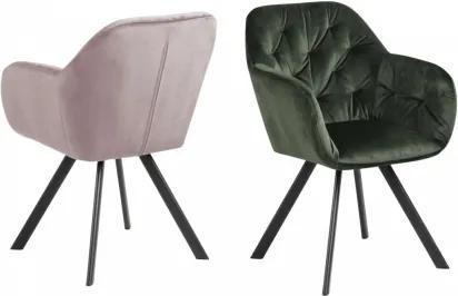 LOLA BLACK stolička Ružová