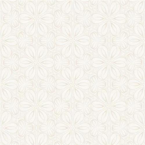 Vliesové tapety na stenu Mixing 352007, kvetinky vytláčané biele, rozmer 10,05 m x 0,53 m, RASCH