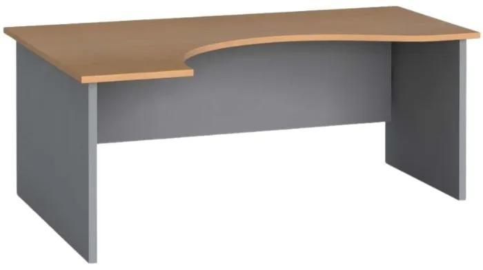 Rohový kancelársky pracovný stôl, zaoblený 180x120 cm, buk, ľavý