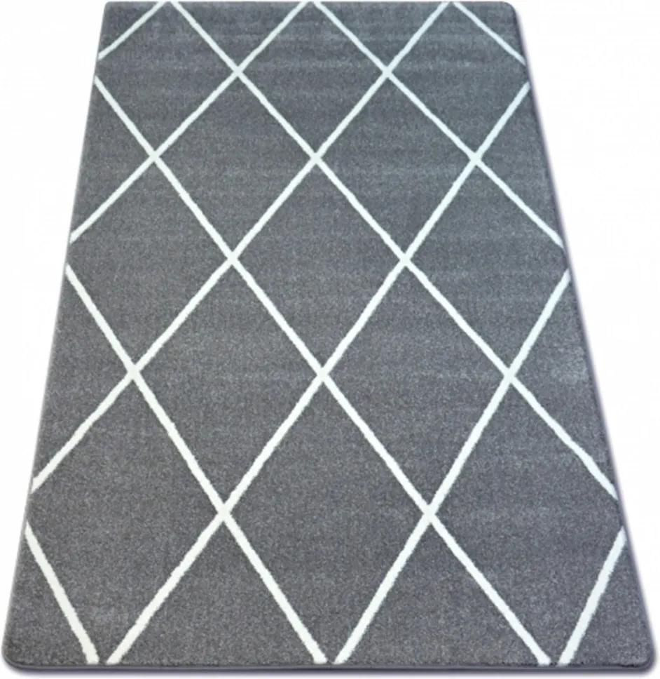 Kusový koberec Romby šedý, Velikosti 80x150cm