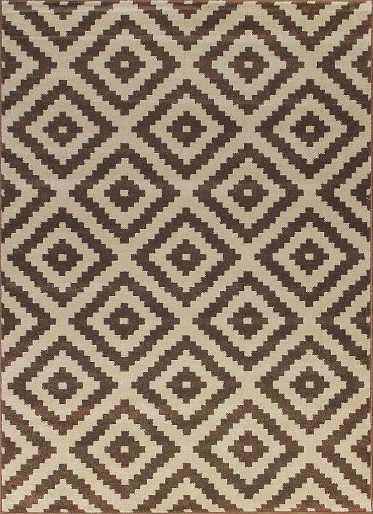 Berfin Dywany Kusový koberec Artos 1639 Brown - 200x290 cm