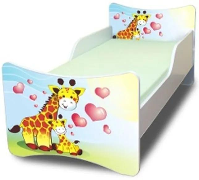 MAXMAX Detská posteľ 160x80 cm - žirafkou 160x80 pre všetkých NIE