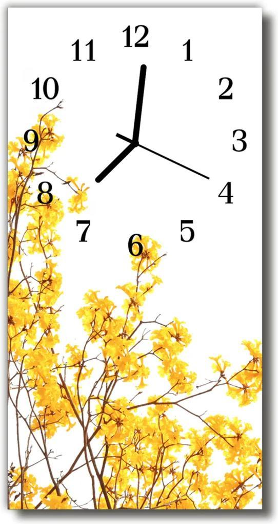 Skleněné hodiny vertikální Barevný strom