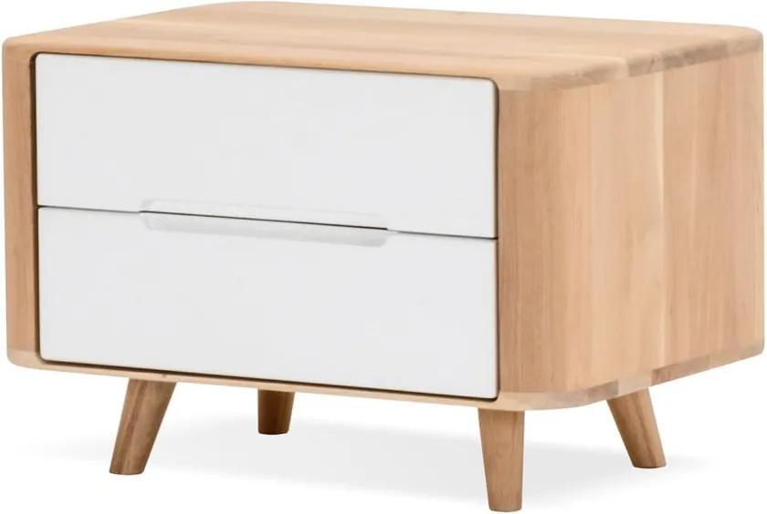 Nočný stolík z dubového dreva Gazzda Ena One, 60 × 42 × 40 cm