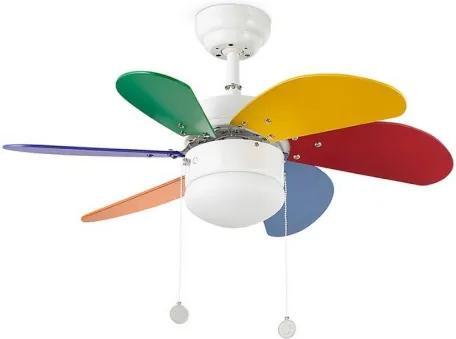Stropný ventilátor Faro PALAO 33179 multicolor - Pôvodne 95.40 € = Zľava 13%