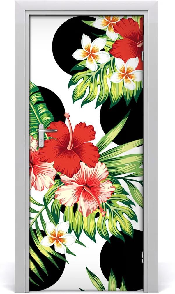 Samolepící fototapeta na dveře Havajský vzor