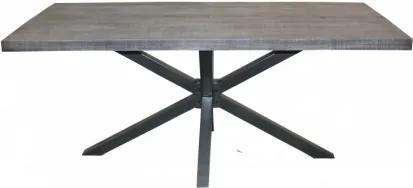 GALAXY sivý jedálenský stôl 180 x 90 cm