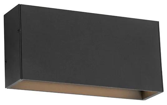 Moderné nástenné svietidlo antracitové vrátane LED IP54 - Spector