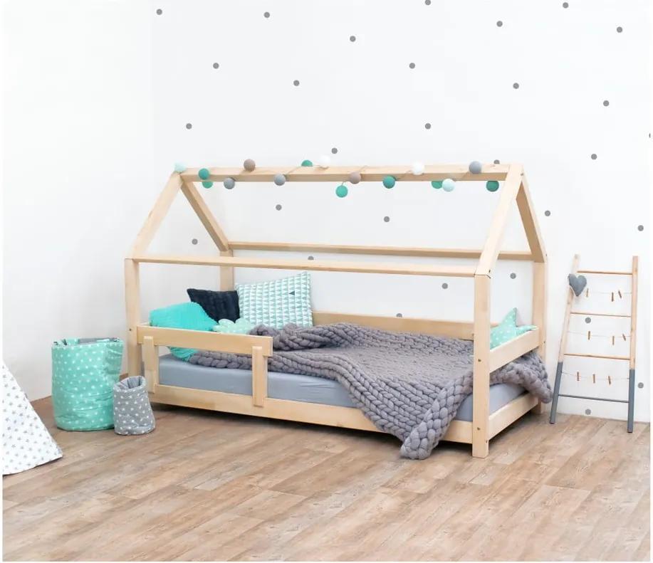 Prírodná detská posteľ s bočnicami zo smrekového dreva Benlemi Tery, 120 × 190 cm