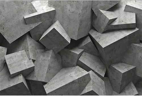 Vliesové fototapety, rozmer 375 cm x 250 cm, 3D betónové kocky, DIMEX MS-5-0176