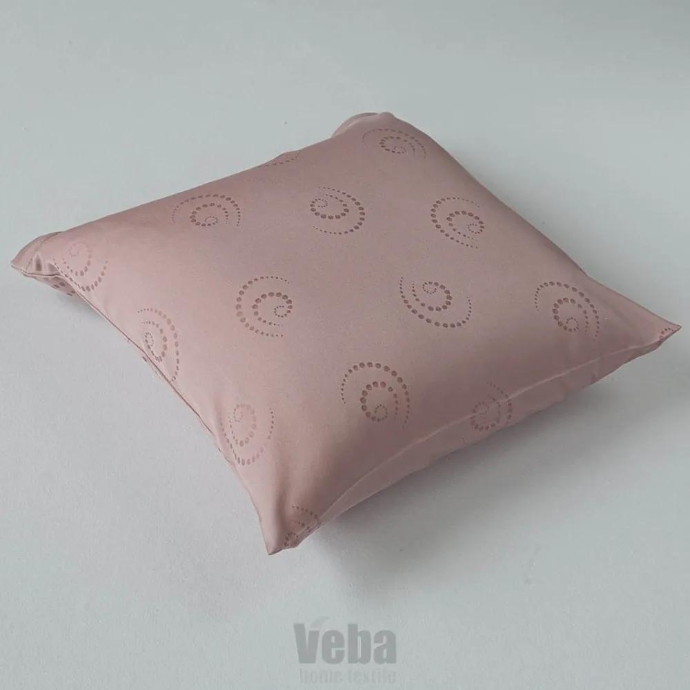 Obliečka na vankúšik Snail ružová růžová