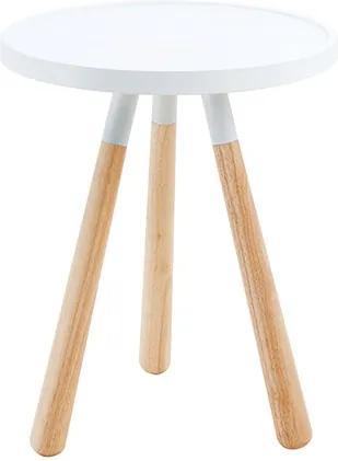 Odkladací stolček Orbit biely