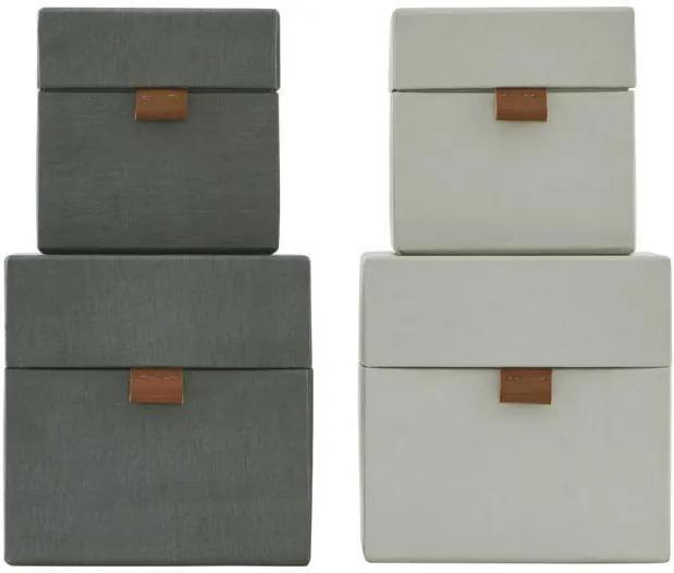 MONOGRAPH Úložný box (kocka) Dark grey/Beige Béžový - menší