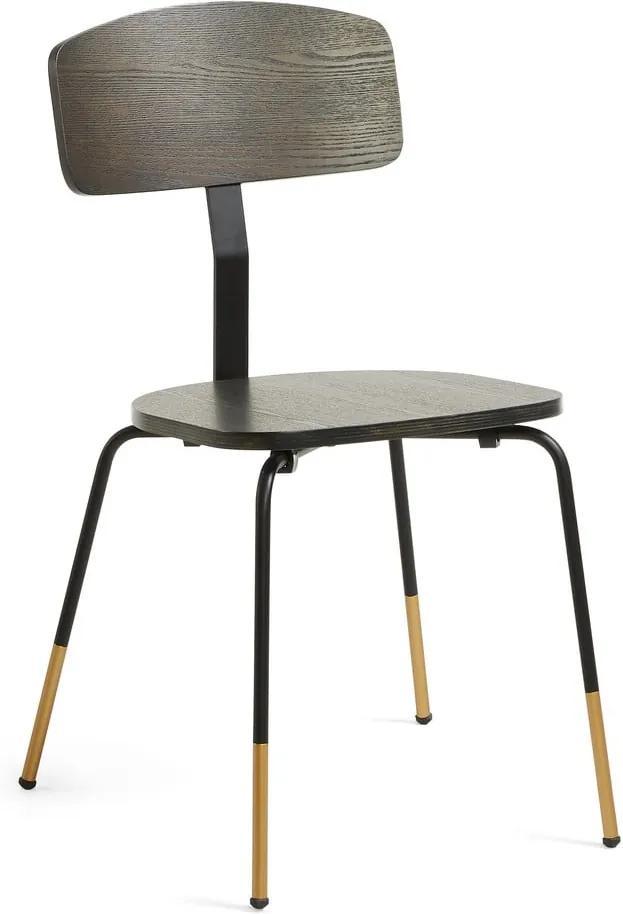 Čierna jedálenská stolička La Forma Norfort