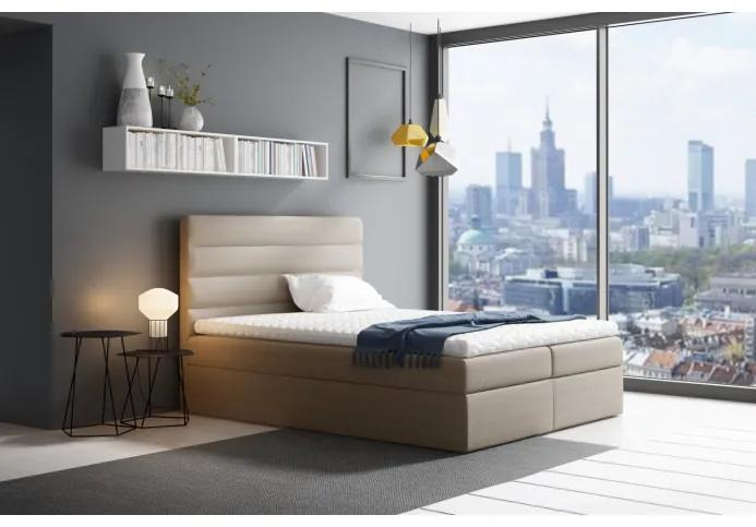 Manželská čalúnená posteľ Sergej 120x200, béžová