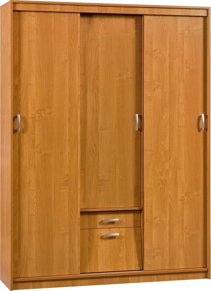 MEBLOCROSS Aleksander 4 4D šatníková skriňa s posuvnými dverami jelša